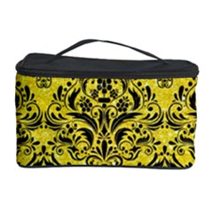 Damask1 Black Marble & Gold Glitter (r) Cosmetic Storage Case by trendistuff