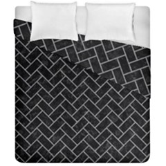 Brick2 Black Marble & Gray Colored Pencilbrick2 Black Marble & Gray Colored Pencil Duvet Cover Double Side (california King Size) by trendistuff