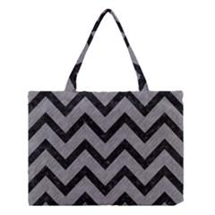 Chevron9 Black Marble & Gray Colored Pencil (r) Medium Tote Bag by trendistuff