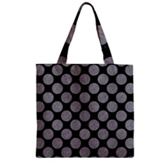 Circles2 Black Marble & Gray Colored Pencil Zipper Grocery Tote Bag by trendistuff