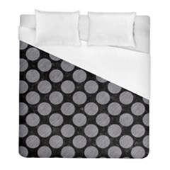 Circles2 Black Marble & Gray Colored Pencil Duvet Cover (full/ Double Size) by trendistuff