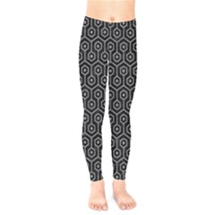 Hexagon1 Black Marble & Gray Colored Pencil Kids  Legging by trendistuff