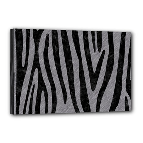 Skin4 Black Marble & Gray Colored Pencil Canvas 18  X 12  by trendistuff