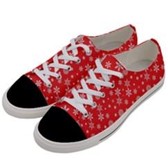 Xmas Pattern Women s Low Top Canvas Sneakers by Valentinaart