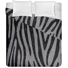 Skin4 Black Marble & Gray Colored Pencil Duvet Cover Double Side (california King Size)