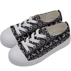Xmas Pattern Kids  Low Top Canvas Sneakers by Valentinaart