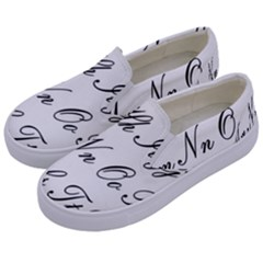 Alphabet Embassy Font Kids  Canvas Slip Ons by Mariart