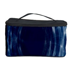 Worm Hole Line Space Blue Cosmetic Storage Case by Mariart