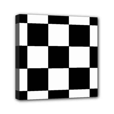 Grid Domino Bank And Black Mini Canvas 6  X 6  by Nexatart
