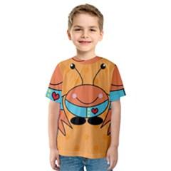 Crab Sea Ocean Animal Design Kids  Sport Mesh Tee by Nexatart