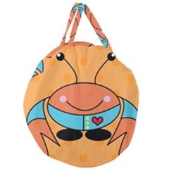 Crab Sea Ocean Animal Design Giant Round Zipper Tote by Nexatart