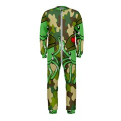 Octopus Army Ocean Marine Sea Onepiece Jumpsuit (kids) by Nexatart