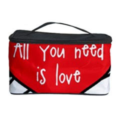 Love Abstract Heart Romance Shape Cosmetic Storage Case by Nexatart