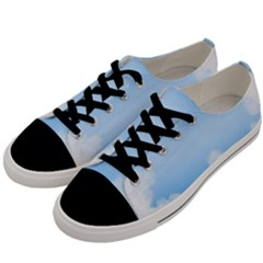 Sky Cloud Blue Texture Men s Low Top Canvas Sneakers by Nexatart