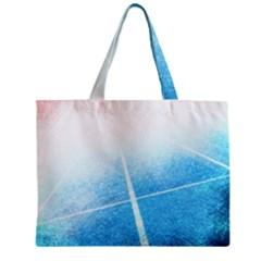 Court Sport Blue Red White Mini Tote Bag by Nexatart