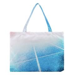 Court Sport Blue Red White Medium Tote Bag by Nexatart
