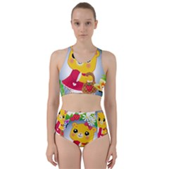 Bear Strawberries Racer Back Bikini Set by Nexatart