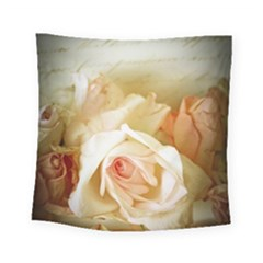 Roses Vintage Playful Romantic Square Tapestry (small) by Nexatart