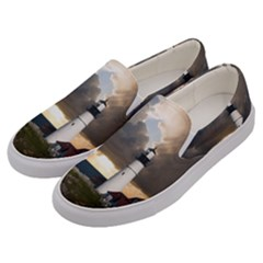 Lighthouse Beacon Light House Men s Canvas Slip Ons by Nexatart