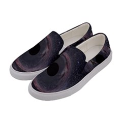 Black Hole Blue Space Galaxy Star Women s Canvas Slip Ons by Mariart