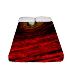 Black Red Space Hole Fitted Sheet (full/ Double Size) by Mariart