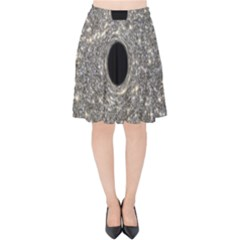 Black Hole Blue Space Galaxy Star Light Velvet High Waist Skirt by Mariart