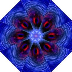 Blue Red Eye Space Hole Galaxy Folding Umbrellas by Mariart