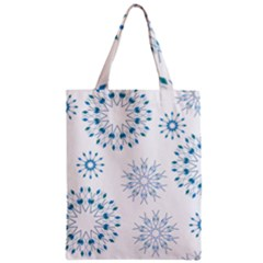 Blue Winter Snowflakes Star Triangle Zipper Classic Tote Bag by Mariart