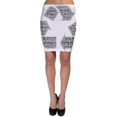 Recycling Generosity Consumption Bodycon Skirt by Nexatart
