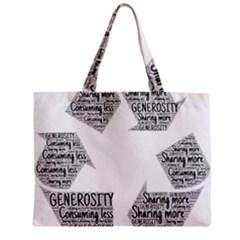 Recycling Generosity Consumption Zipper Mini Tote Bag by Nexatart