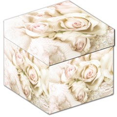 Pastel Roses Antique Vintage Storage Stool 12   by Nexatart