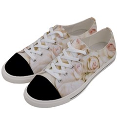 Pastel Roses Antique Vintage Women s Low Top Canvas Sneakers by Nexatart