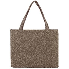 Leather Texture Brown Background Mini Tote Bag by Nexatart