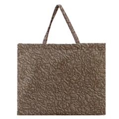 Leather Texture Brown Background Zipper Large Tote Bag by Nexatart
