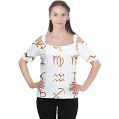 Signs Of The Zodiac Zodiac Aries Cutout Shoulder Tee