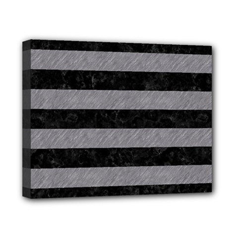 Stripes2 Black Marble & Gray Colored Pencil Canvas 10  X 8  by trendistuff