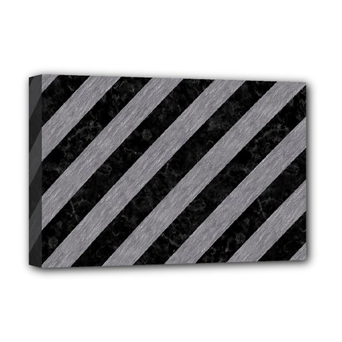 Stripes3 Black Marble & Gray Colored Pencil Deluxe Canvas 18  X 12   by trendistuff