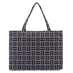 Woven1 Black Marble & Gray Colored Pencil (r) Zipper Medium Tote Bag by trendistuff