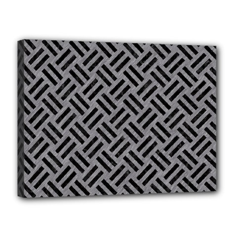 Woven2 Black Marble & Gray Colored Pencil (r) Canvas 16  X 12  by trendistuff