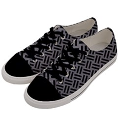 Woven2 Black Marble & Gray Colored Pencil (r) Men s Low Top Canvas Sneakers by trendistuff