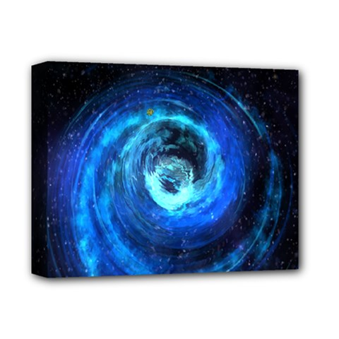 Blue Black Hole Galaxy Deluxe Canvas 14  X 11  by Mariart