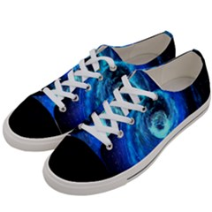 Blue Black Hole Galaxy Women s Low Top Canvas Sneakers by Mariart