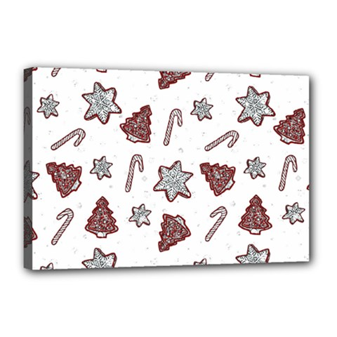 Ginger Cookies Christmas Pattern Canvas 18  X 12  by Valentinaart