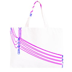 Electricty Power Pole Blue Pink Zipper Large Tote Bag by Mariart