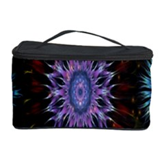 Flower Stigma Colorful Rainbow Animation Gold Space Cosmetic Storage Case by Mariart