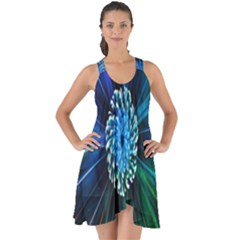 Flower Stigma Colorful Rainbow Animation Space Show Some Back Chiffon Dress by Mariart