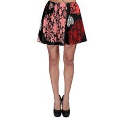 Floral Flower Heart Valentine Skater Skirt by Mariart