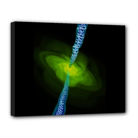 Gas Yellow Falling Into Black Hole Canvas 14  X 11  by Mariart
