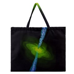Gas Yellow Falling Into Black Hole Zipper Large Tote Bag by Mariart