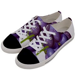 Grape Fruit Women s Low Top Canvas Sneakers by Mariart